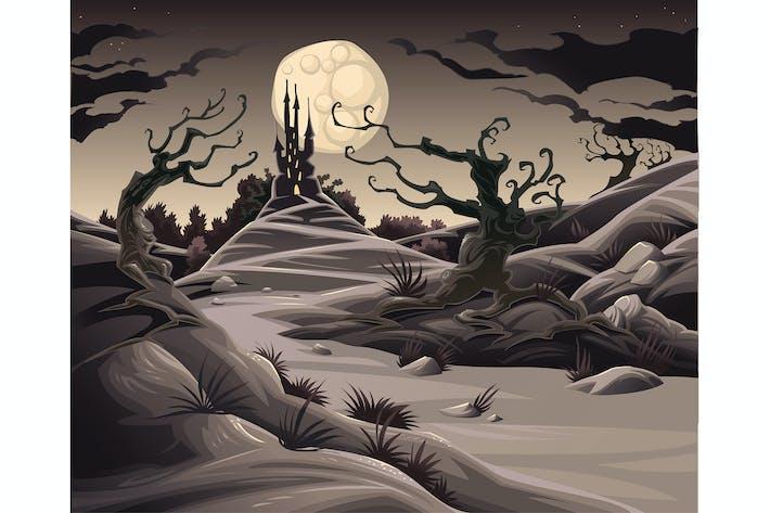 Thumbnail for Horizontal Terror. Ilustración Dibujos animados y Vector.
