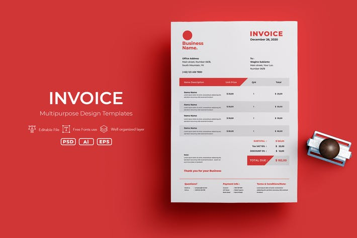 Thumbnail for ADL Invoice Template.v12