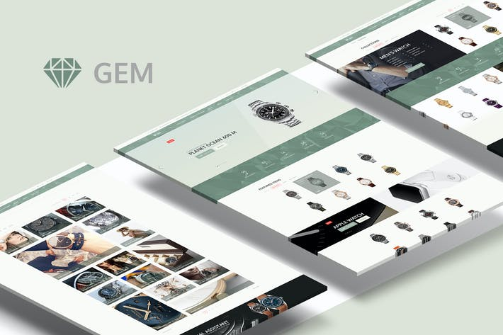 Thumbnail for Gem — Luxury E-Commerce PSD theme