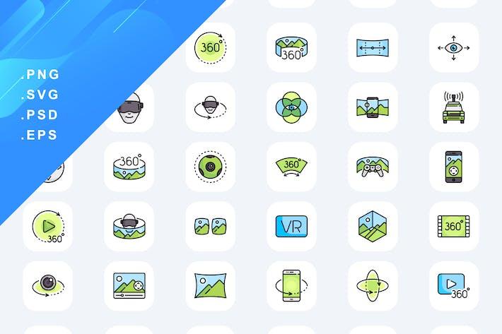 360-Ansicht Icons