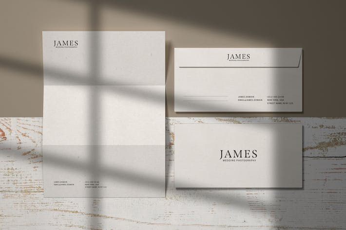 Thumbnail for Envelope and Letterhead Stationery Branding Mockup