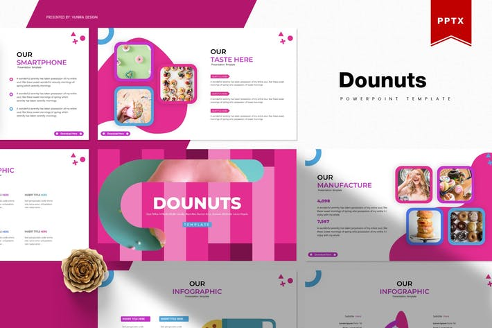 Thumbnail for Dounuts | Powerpoint Template