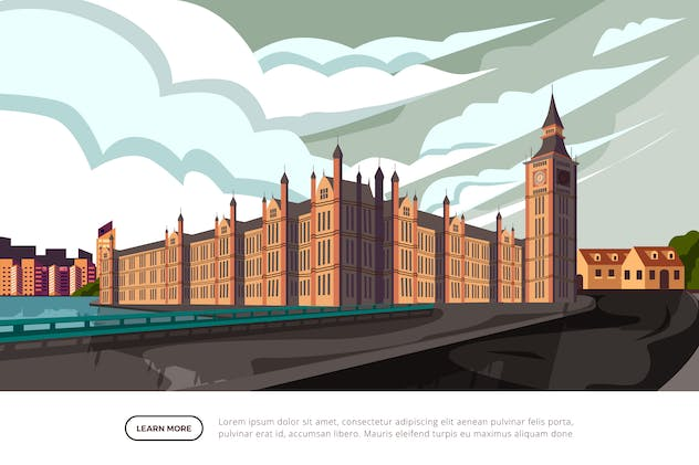 Big Ben - Famous Landmark Illustration