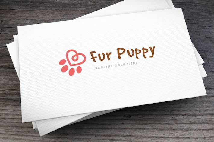 Thumbnail for Fur Puppy Logo Template