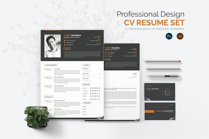 Thumbnail for Professional Design CV Resume Set