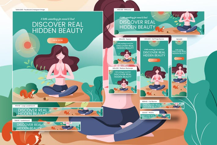 Cover Image For Young Beautiful Girl Spa Banners Ad