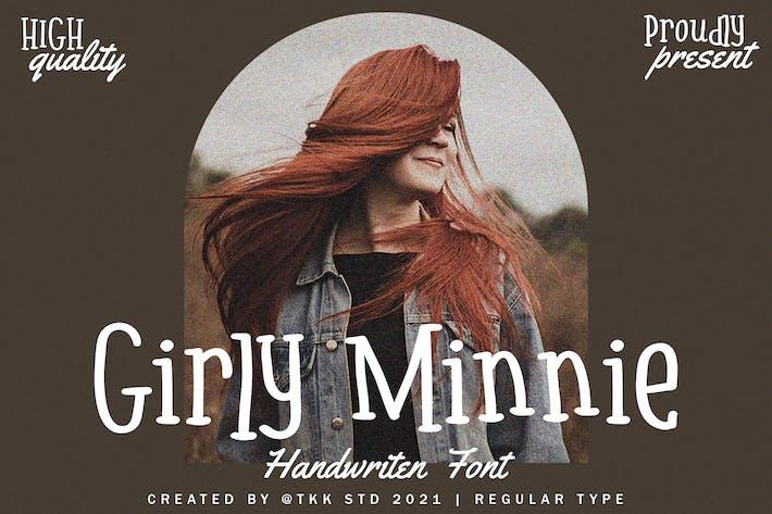 Girly Minnie - Fuente escrita a mano