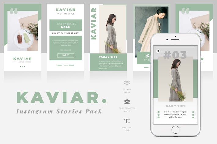 Thumbnail for Kaviar Instagram Stories Template