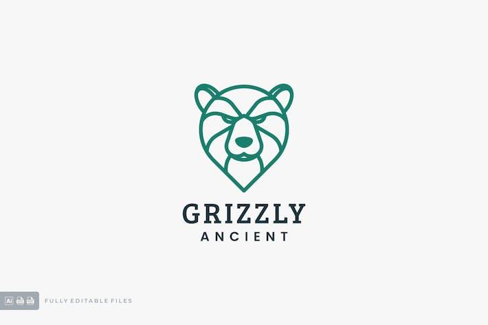 Grizzly Line Art Logo