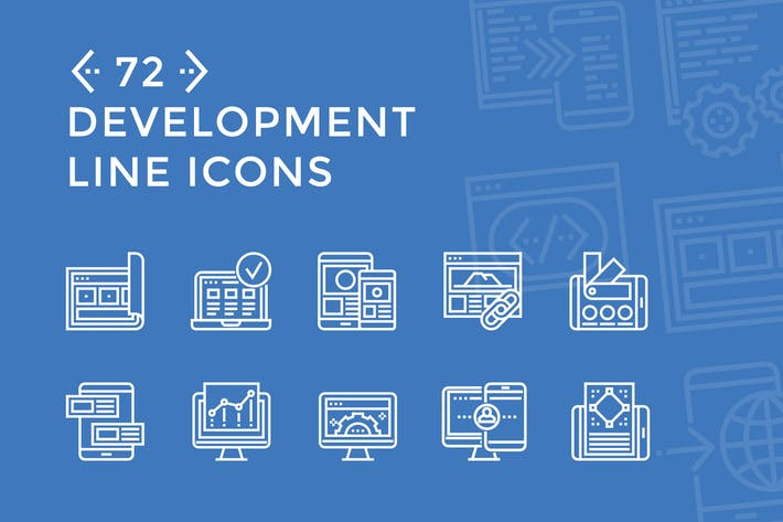Cover Image For Development Line Icons