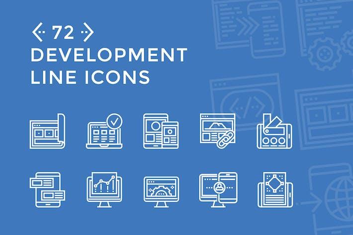 Thumbnail for Íconos de línea de desarrollo