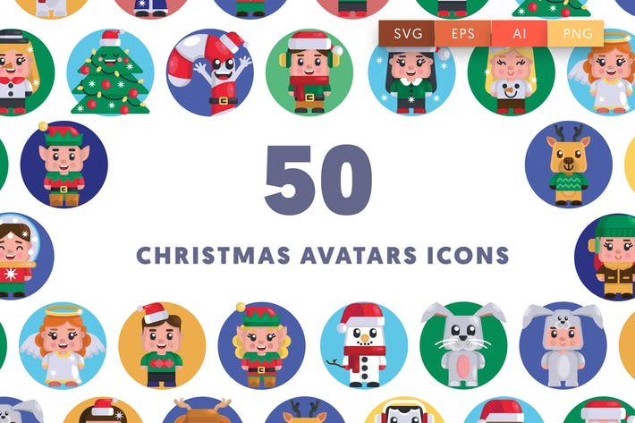 Thumbnail for Christmas Avatars Icons