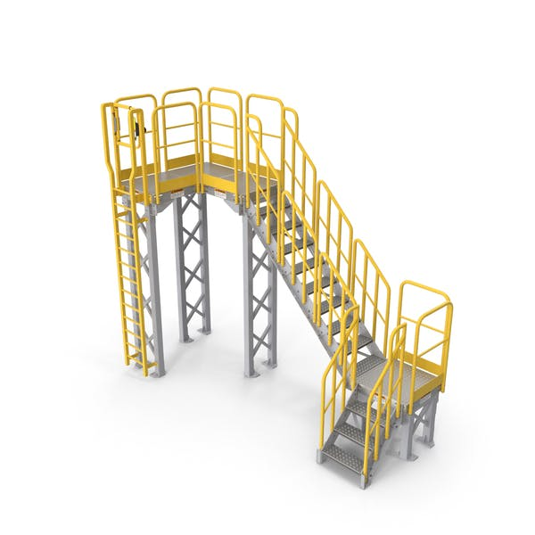 Thumbnail for Industrial Catwalk Staircase