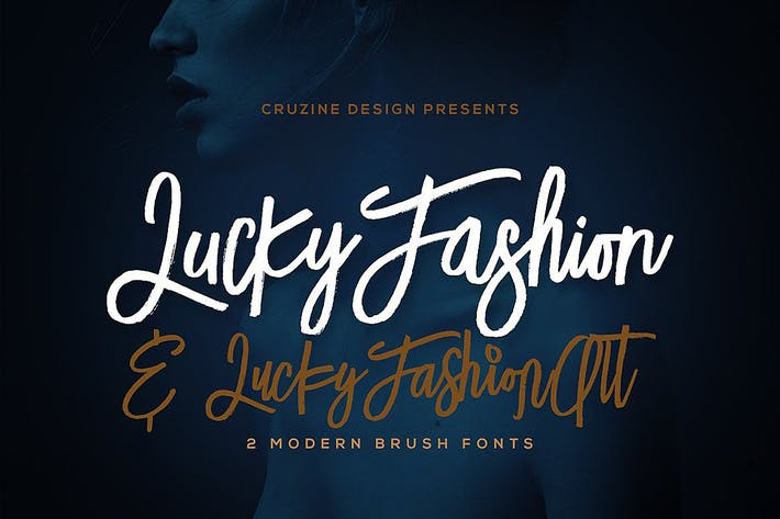 Cover Image For Lucky Fashion Brush Font