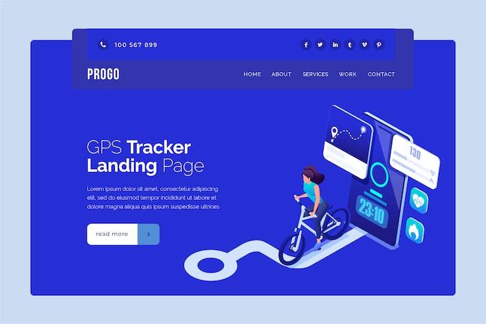 Progo - GPS Tracker Landing Page Banner