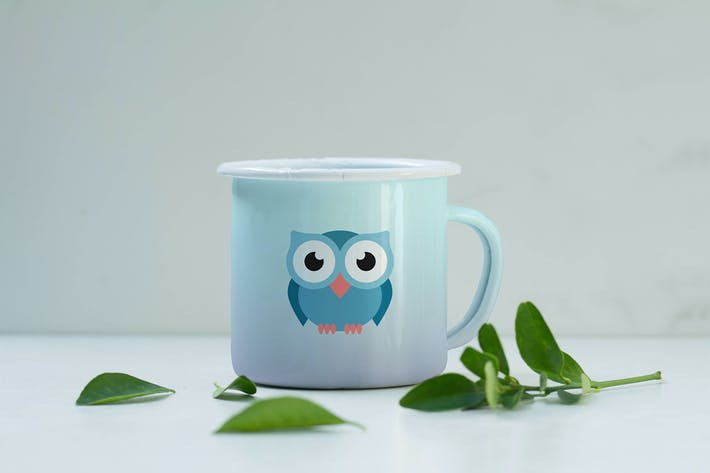 Thumbnail for Enamel Mug Design Mockup