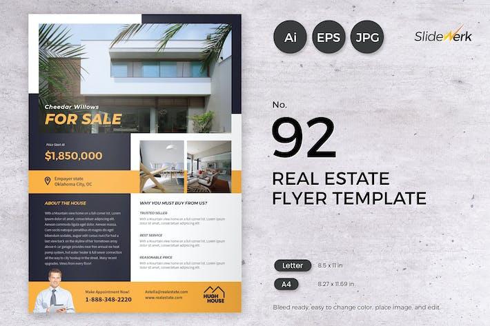 Thumbnail for Real Estate Flyer Template 92 - Slidewerk