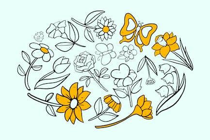 Flower Field Doodles