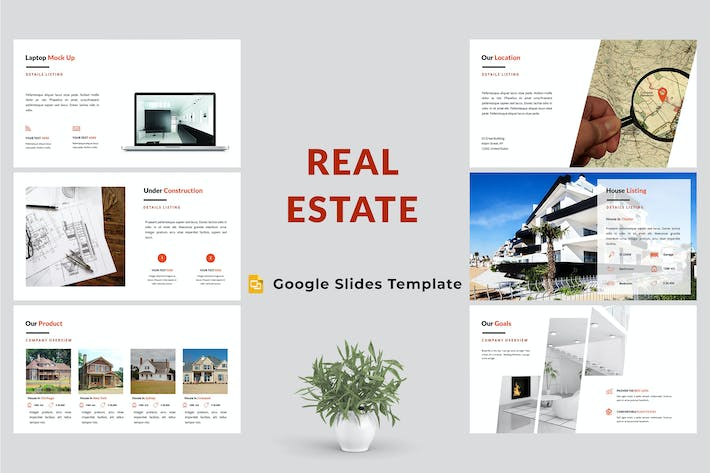 Thumbnail for Real Estate Google Slides Presentation Template