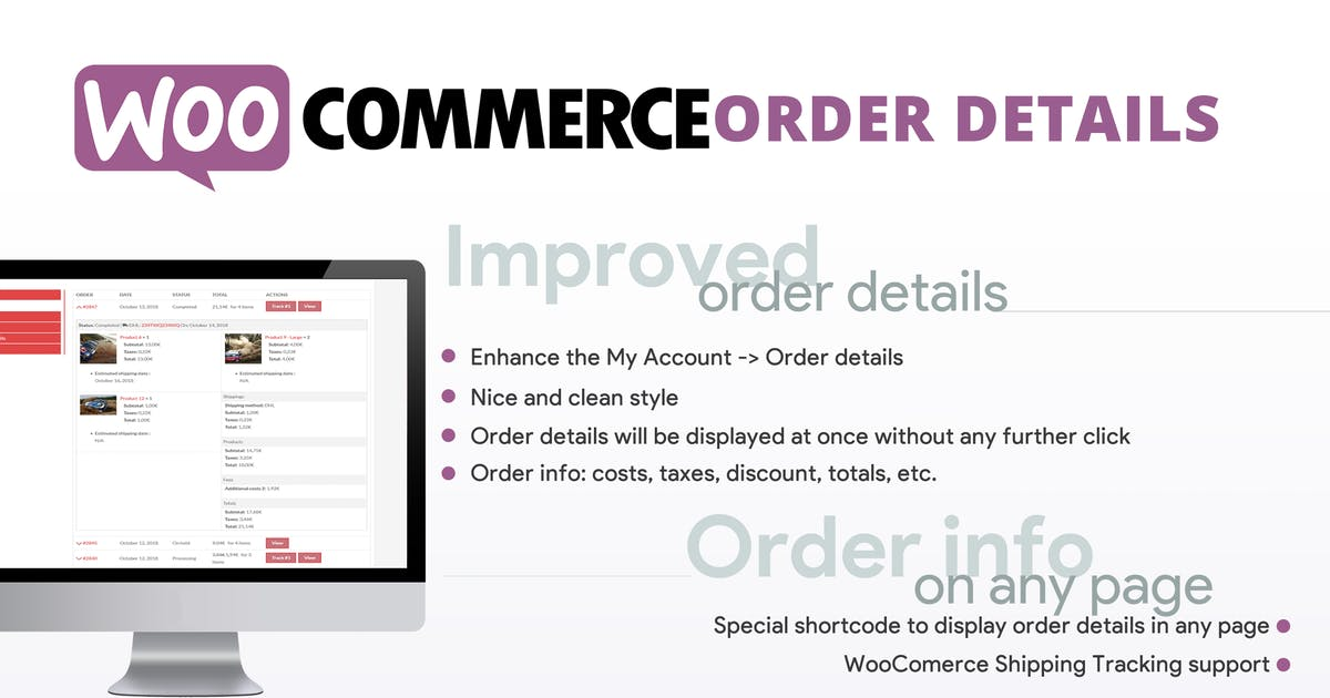 Download WooCommerce Order Details by vanquish
