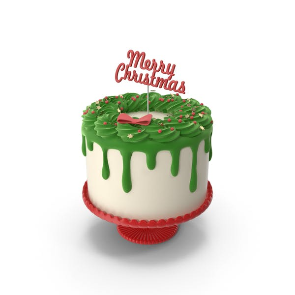 Thumbnail for Merry Christmas Cake with Topper Merry Christmas