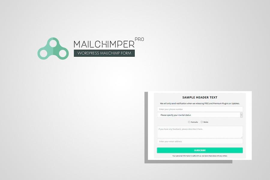 MailChimper PRO - WordPress MailChimp Signup Form