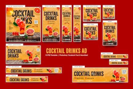 Bannières de boissons à cocktail