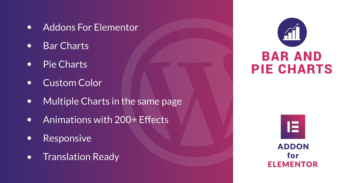 Download Bar and Pie Charts for Elementor WordPress Plugin by ad-theme
