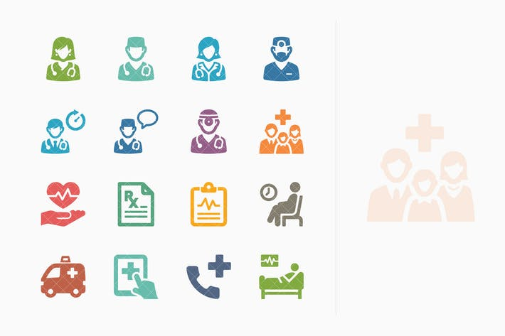 Colored Medical Services Icons Set 3 - Sympa Serie
