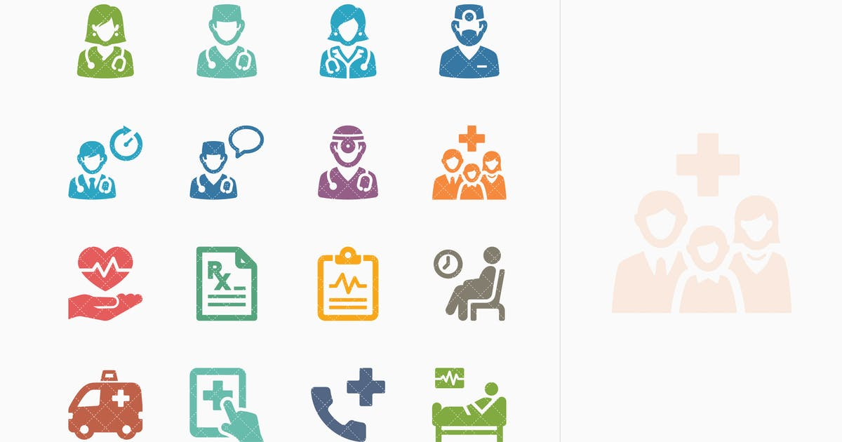 Download Colored Medical Services Icons Set 3 - Sympa Serie by introwiz1