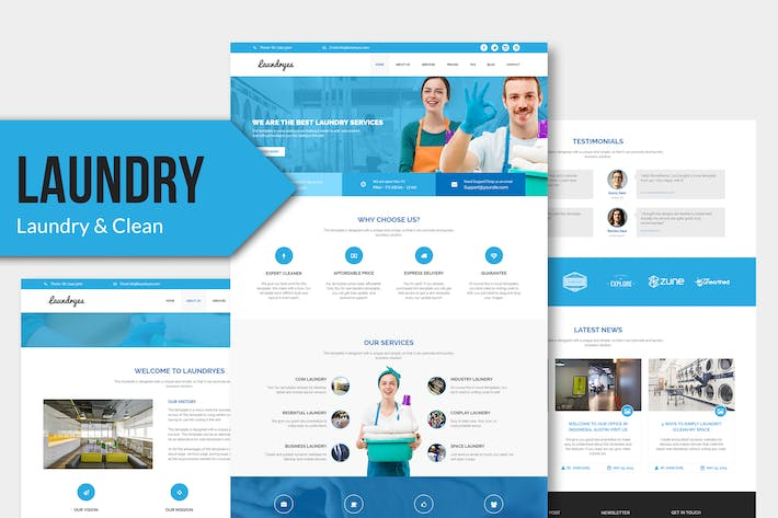 Thumbnail for Laundryes - Laundry Business Muse Template YR