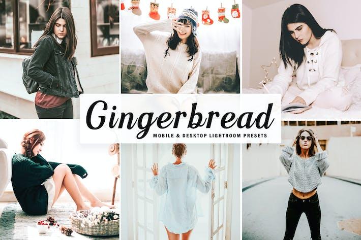 Thumbnail for Gingerbread Mobile & Desktop Lightroom Presets