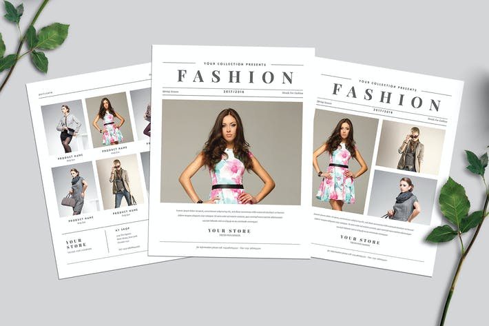 Thumbnail for Newspaper Style Fashion Flyer