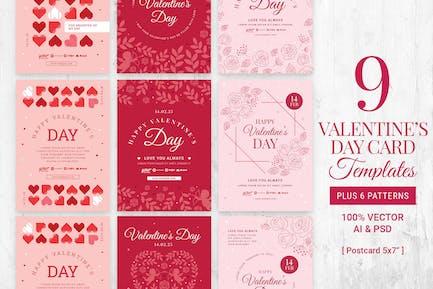 Valentine Postcard Templates