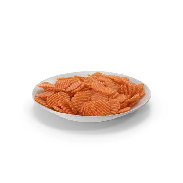 Thumbnail for Teller mit BBQ Crinkle Cut gewellten Kartoffelchips