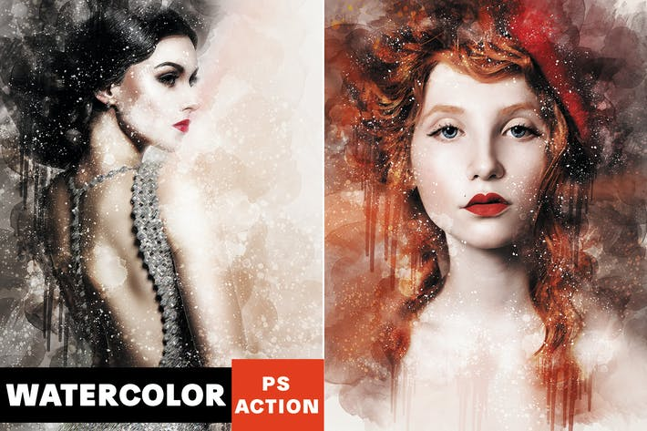 Thumbnail for Artistic Watercolor Photoshop Action