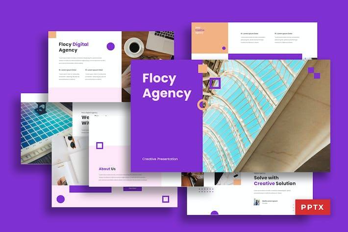 Thumbnail for Flocy Agency - Powerpoint Deck Presentation