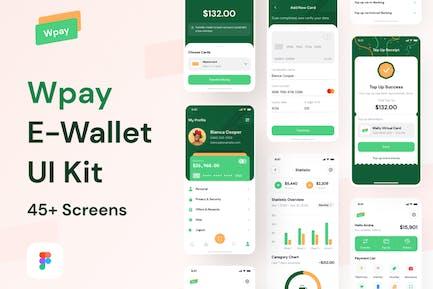 Wpay App - Modern E-wallet & Finance App UI Kit