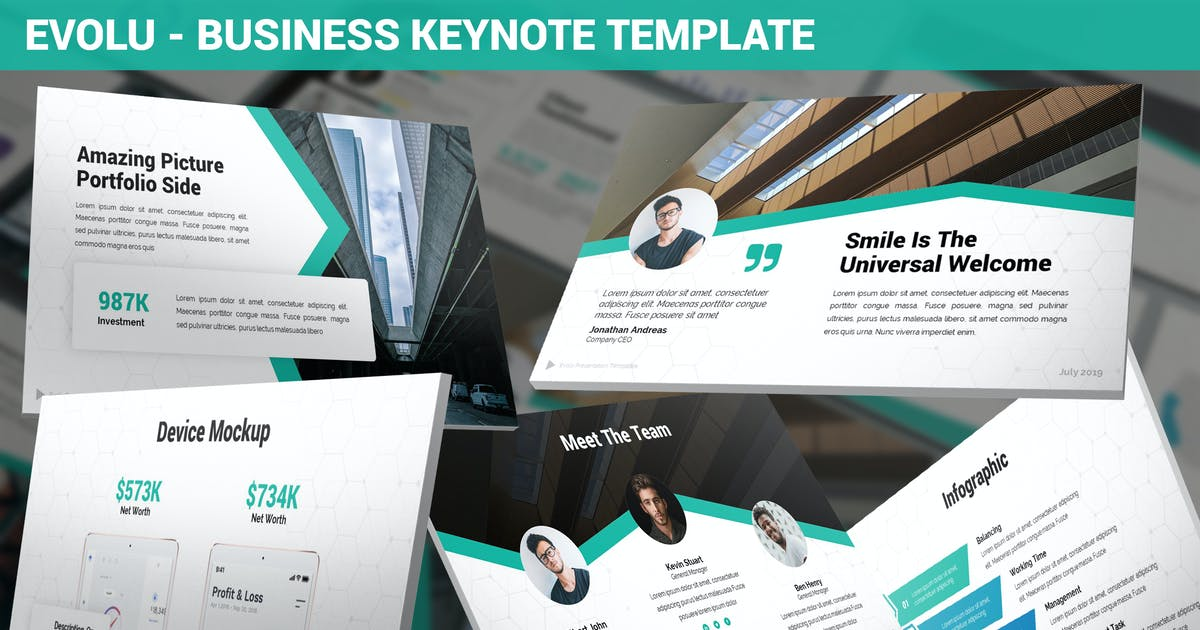 Download Evolu - Business Keynote Template by SlideFactory
