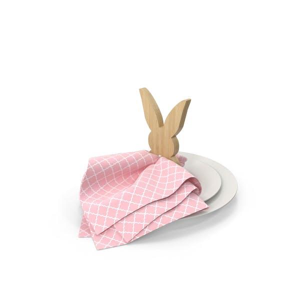 Holz Bunny Serviettenring für Frühling Tablescape