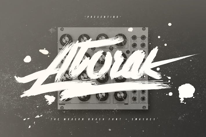 Cover Image For Atorak Typeface
