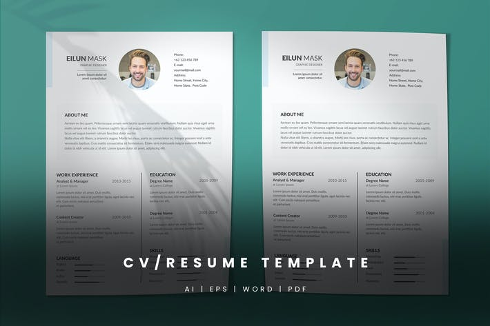 Thumbnail for CV/Resume Template - 01