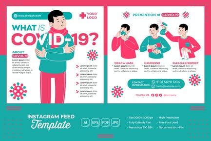 Covid-19 #01 Instagram Feed Template