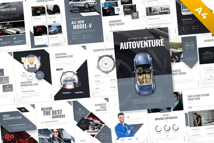 Thumbnail for Autoventure Portrait Automotive Template