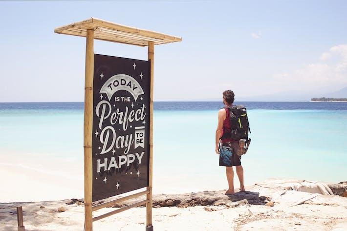 Thumbnail for Beautiful Beach Slate Mockup