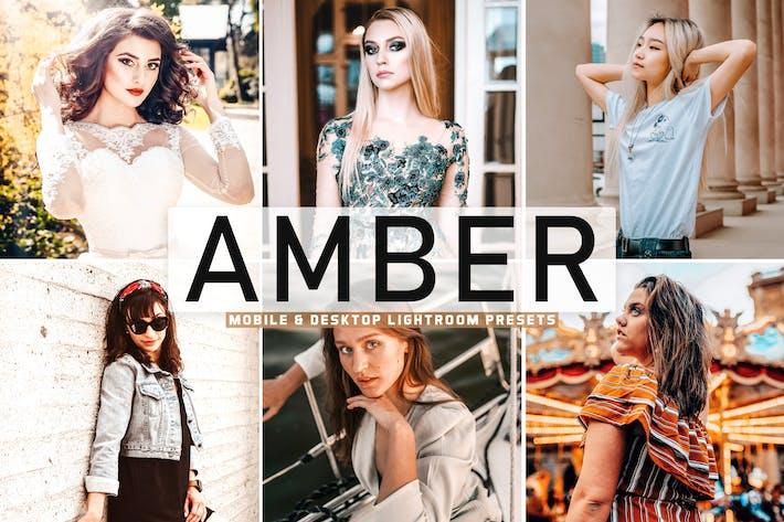 Thumbnail for Amber Mobile & Desktop Lightroom Presets