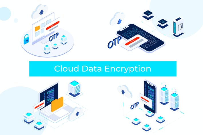 Thumbnail for Cloud Data Encryption on Blockchain Isometric FV