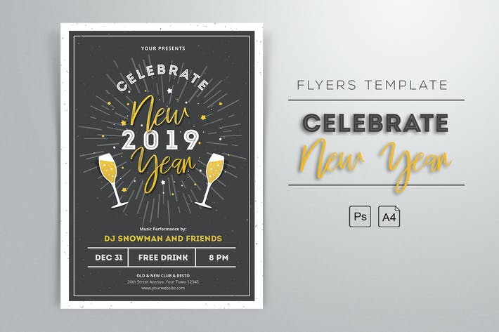 Thumbnail for New Year 2019 Flyers