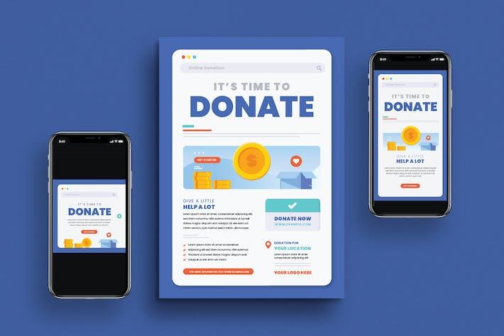 Thumbnail for dépliant sur les dons en ligne et médias sociaux