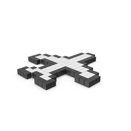 "Symbol ""Pixeliertes Flugzeug"""